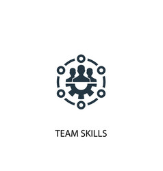 Team skills icon simple element vector