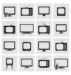 Tv screens icons set vector