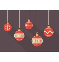 Vintage christmas balls vector