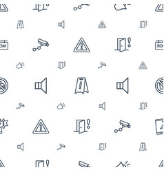 Warning icons pattern seamless white background vector