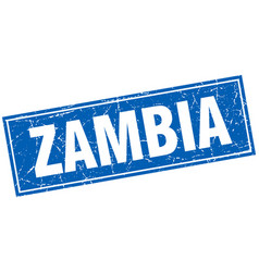 Zambia blue square grunge vintage isolated stamp vector
