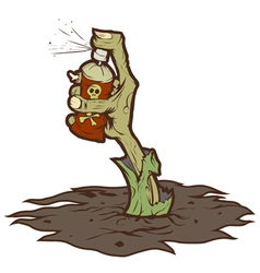Zombie drawing graffiti vector