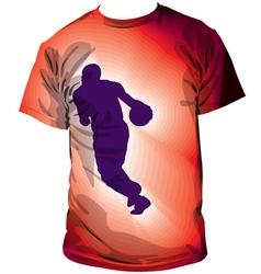 Basketball T-shirt vector image vector image