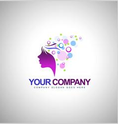 Beauty Female Face Logo vector image