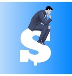 Big money business concept vector image