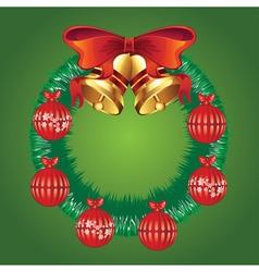 Decorated christmas wreath vector