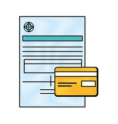 Document contract credict card vector