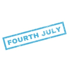 Fourth july rubber stamp vector