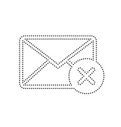mail sign with cacel mark vector image vector image