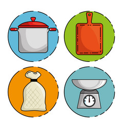 set of restaurant icon vector image