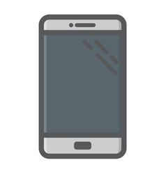Smartphone colorful line icon phone and touch vector