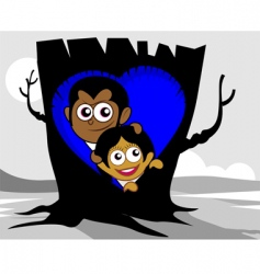 tree nest vector image vector image