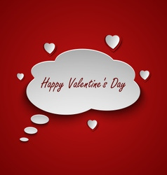 Valentines card with dialog bubble and hearts vector image vector image
