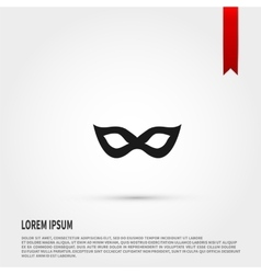 Carnival mask Icon Flat design style Template vector image