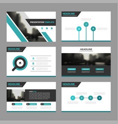 green black business presentation templates vector image
