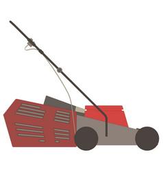 lawn mower icon grass gardening mowing garden vector image