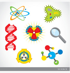 science stuff icon lab cartoon vector image
