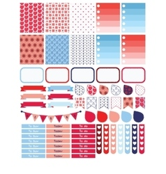 Winter planner sticker set for a week vector image vector image