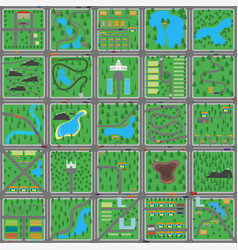 big green flat city for game vector image