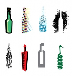 bottle web icons vector image