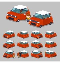 Cube World Red hatchback vector image vector image