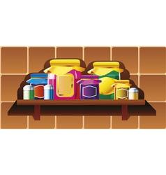 kitchen shelf vector image