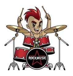 little drummer vector image vector image