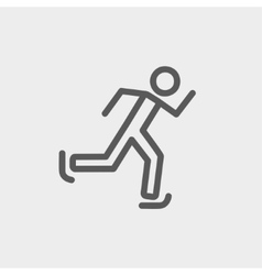 Running man thin line icon vector image vector image