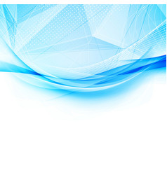 blue crystal and swoosh wave pattern layout vector image vector image