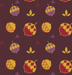 color acorn seamless background vector image vector image