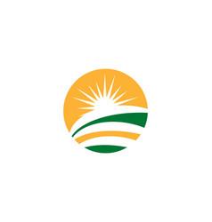 farm logo vector image vector image
