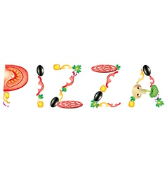 pizza word vector image vector image