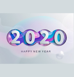 2020 new year modern greeting card vector