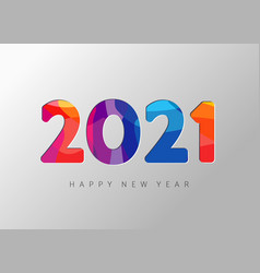 2021 new year banner paper colorful facet vector image