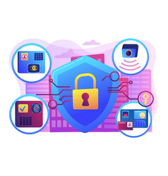 Access control system concept vector
