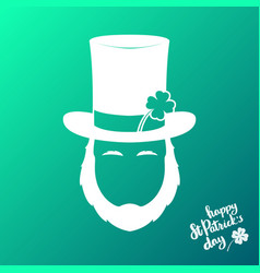 avatar of silhouette irishman happy st patricks vector image