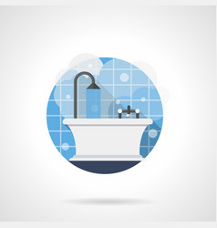 bathroom color detailed icon vector image