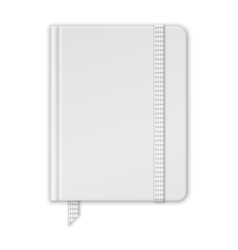 Blank White Notebook Copybook Template With Band vector image