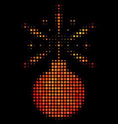 Bright pixel fireworks detonator icon vector