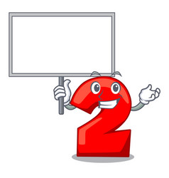 Bring board cartoon paper number two on letter vector