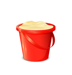 Bucket with sand vector