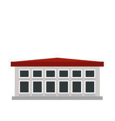 Building icon flat style vector