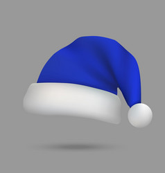 christmas santa claus hat isolated vector image
