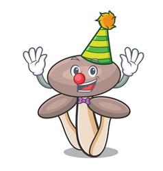 clown honey agaric mushroom mascot cartoon vector image