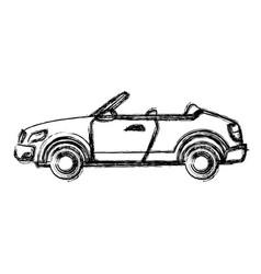 convertible car sport luxury elegant vehicle vector image