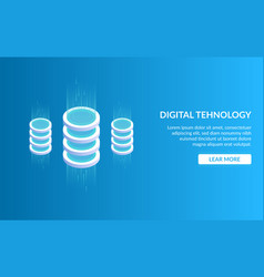 didgital tehnology concept of big data processing vector image