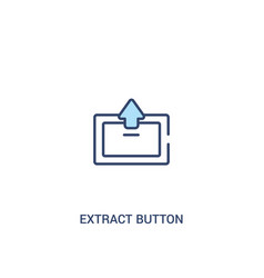 Extract button concept 2 colored icon simple line vector