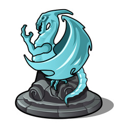 figurine of dragon turquoise color isolated on vector image