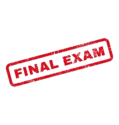 Final exam text rubber stamp vector