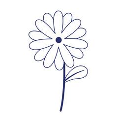 Flower stem petal decoration isolated icon design vector